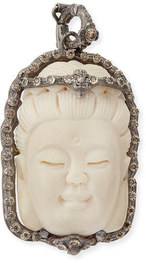 ArmentaArmenta Bone Buddha Enhancer with Champagne Diamonds