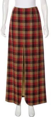 Valentino Wool Printed Maxi Skirt
