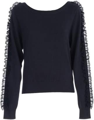 See by Chloe Sweater L/s Boat Neck W/insert