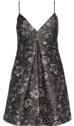 Zimmermann Pleated Metallic Brocade Mini Dress