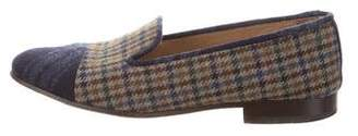 Stubbs & Wootton Plaid Print Loafers