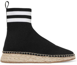 Alexander Wang Dylan Stretch-knit Boots - Black