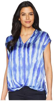 Kenneth Cole New York V-Neck High-Low Hem Top Women's Clothing