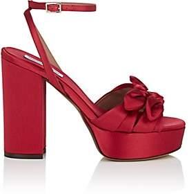 Tabitha Simmons Women's Jodie Satin Platform Sandals - Redsatin