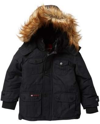 Canada Weather Gear Faux Fur Hood Parka (Toddler Boys)
