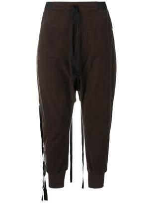 Unravel Project deconstructed drop-crotch track pants
