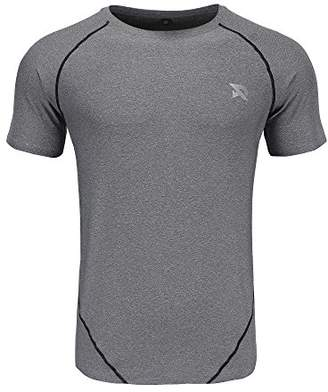 RADHYPE Men's Polyester Men Short Sleeve Bodybuilding Tshirt Training Top XL