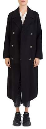 The Kooples Double-Breasted Long Wool Coat