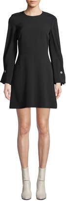 A.L.C. Bennet Long-Sleeve Mini Dress with Button Details