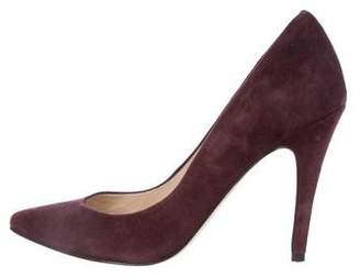 Barney's Suede Pointed-Toe Pumps