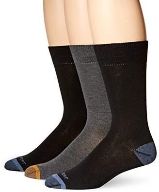 Rockport Men's Basic Flat Knit Crew Sock