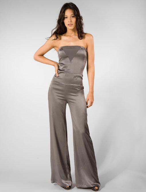 Andrea S. Mara Jumpsuit in Grey
