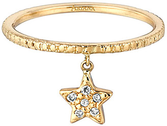 Ariana Rabbani 14K Diamond Hanging Star Ring
