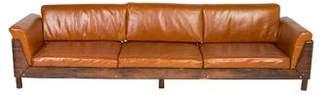 Jorge Zalszupin Leather & Rosewood Sofa