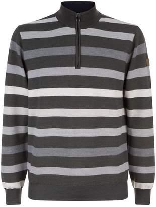 Paul & Shark Stripe Half Zip Sweater