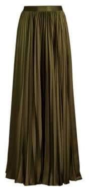 AMUR AMUR Women's Annie Accordion Pleated Maxi Skirt - Olive - Size 0