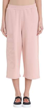 Kenzo Pink Cropped Logo Trousers