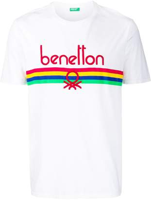 Benetton logo embroidered T-shirt