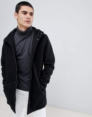 Jefferson hooded wool blend parka jacket