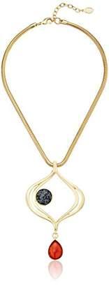 Ben-Amun Jewelry Sculpture Garden Stone Drop Pendant Necklace