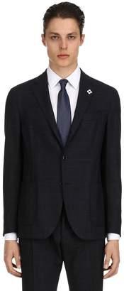 Lardini Single Breasted Easy Wear Wool Suit