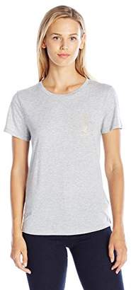 Juicy Couture Women's Knt Jersey Iconic Tee T-Shirt,(Manufacturer Size:Medium)