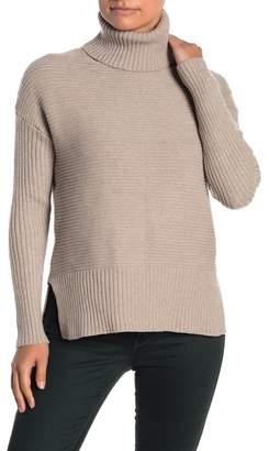 Sweet Romeo Cool Girl Ribbed Turtleneck Sweater (Petite)