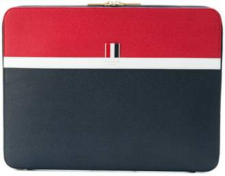 Thom Browne Color-Blocked Leather Document Holder