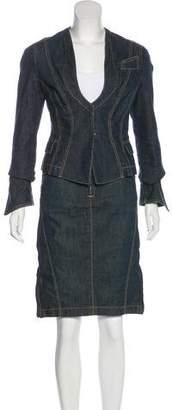 Dolce & Gabbana Denim Skirt Suit