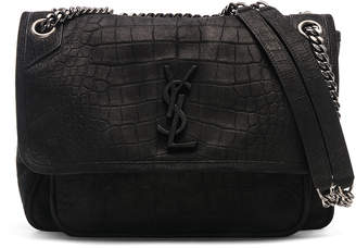 Saint Laurent Monogramme Niki Cocco Print Shoulder Bag