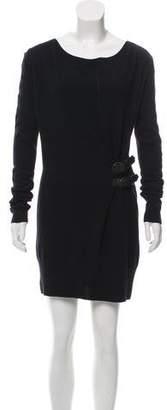 AllSaints Belt-Accented Sweater Dress