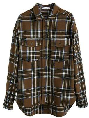 MANGO Chest-pocket check shirt