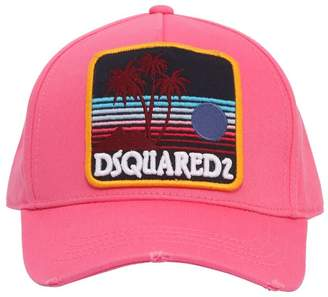 DSQUARED2 Sunset Patch Cotton Canvas Baseball Hat
