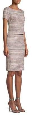 St. John Flag Tweed Knit Dress