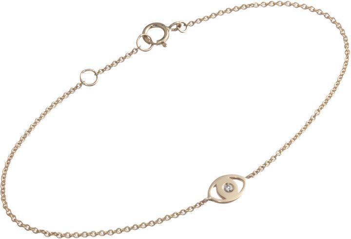 Minor Obsessions Gold & Diamond Sparkle Evil Eye Bracelet