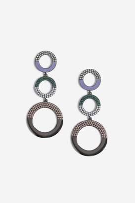 Topshop Circle Drop Earrings