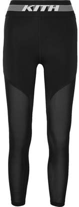Kith - Cody Cooling Mesh-paneled Stretch-jersey Leggings - Black