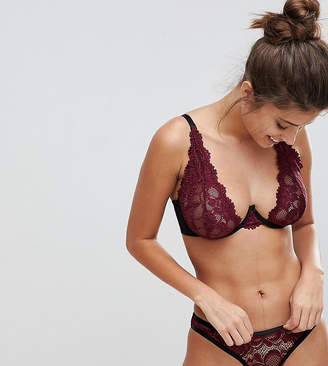 Wolfwhistle Wolf & Whistle Burgundy High Apex B-G Cup Bra