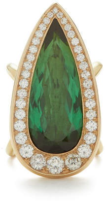 Vram One-Of-A-Kind Pear Shaped Green Tourmaline Ring