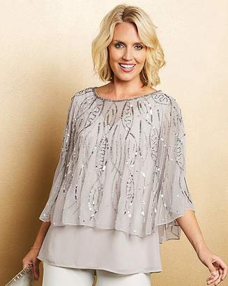 Nightingales Beaded Cape Top