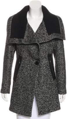 Trina Turk Wool-Blend Herringbone Coat w/ Tags