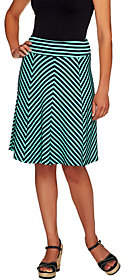George Simonton Petite Crepe Knit Striped Skirtw/ Panels