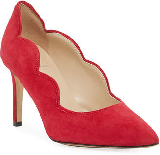 Bruno Magli Adima Scalloped Suede Stiletto Pumps