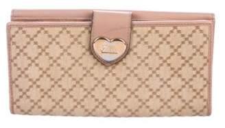Gucci Diamante Heart Wallet Beige Diamante Heart Wallet