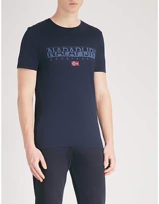Napapijri Sapriol logo-print cotton-jersey T-shirt