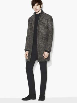 John Varvatos Notch Lapel Long Coat