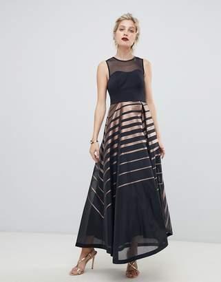 Coast ombre stripe maxi gown
