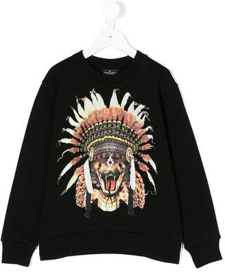 Marcelo Burlon County of Milan Kids feather headdress sweatshirt