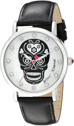 Betsey Johnson Women's BJ00515-01 Analog Display Quartz Black Watch