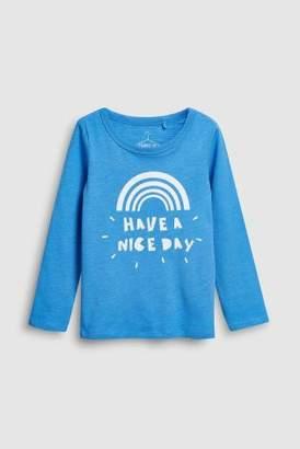 Next Girls Blue Long Sleeve Top (3-16yrs)
